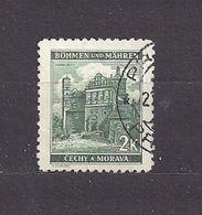 Bohemia & Moravia Böhmen Und Mähren 1940 Gest ⊙ Mi 56 Sc 43 Städte II, Cities And Castle C1 - Bohemia & Moravia