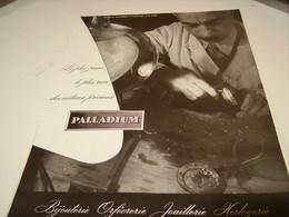 ANCIENNE PUBLICITE JOAILLERIE PALLADIUM 1952 - Bijoux & Horlogerie