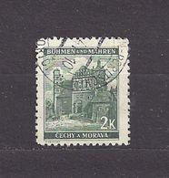 Bohemia & Moravia Böhmen Und Mähren 1940 Gest ⊙ Mi 56 Sc 43 Städte II, Cities And Castle C2 - Bohemia & Moravia