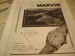 ANCIENNE PUBLICITE MONTRE MARVIN 1952 - Bijoux & Horlogerie