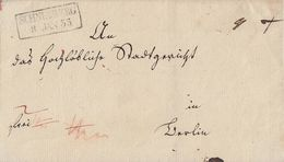 Sachsen Brief R2 Schneeberg 8.1.1835 Gel. Nach Berlin - Sachsen