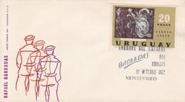 RAFAEL BARRADAS. PINTORES NACIONALES. MONTEVIDEO. URUGUAY.-FDC-TBE-BLEUP - Arte