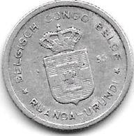 Belgian Congo Ruanda-urundi 50 Centimes 1955  Km  2  Xf - Congo (Belgian) & Ruanda-Urundi
