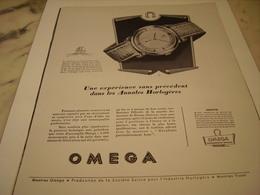 ANCIENNE PUBLICITE MONTRE OMEGA  1952 - Bijoux & Horlogerie