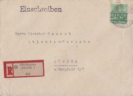 Bizone R-Brief EF Minr.51I Oberhausen Gel. Nach Lübeck - Bizone