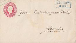 Hannover GS-Umschlag 1 Gr. Blauer R2 Lüchow 3.12. Gel. Nach Hameln - Hannover