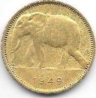 Congo Belg 1 Franc 1949  Km 26   Xf - Congo (Belgian) & Ruanda-Urundi