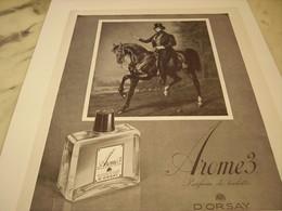 ANCIENNE PUBLICITE AROME DE D ORSAY  1952 - Perfume & Beauty