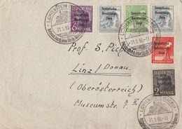 SBZ Brief Mif Minr.182,183,184,1852x 186 Lichtenstein (Sachsen) 21.1.50 Gel. Nach Österreich - Sowjetische Zone (SBZ)