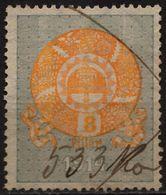 1913 - 1923 Hungary Croatia Slovakia Vojvodina Serbia Romania Transylvania K.u.k Kuk - Revenue Tax Stamp - USED - 8 F. - Steuermarken