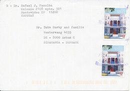 Uruguay Cover Sent To Denmark 2002 - Uruguay