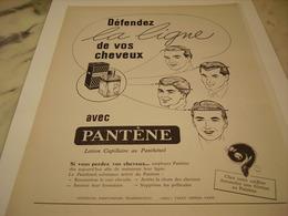 ANCIENNE PUBLICITE PANTENE POUR CHEVEUX  1952 - Perfume & Beauty