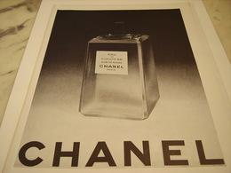 ANCIENNE PUBLICITE EAU DE COLOGNE CHANEL 1952 - Perfume & Beauty