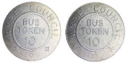 00868 GETTONE TOKEN JETON FICHA TRASPORTO TRANSIT TRANSPORT BUS WYRE COUNCIL BUS TOKEN 10 UK250BF - Unclassified