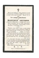 945. MARTINUS GEUDENS  -  GHEEL 1831 / 1903 - Images Religieuses