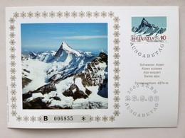 SUISSE / SCHWEIZ / SVIZZERA // 1966, MK Schweizer Alpen, FINSTERAARHORN 4274 M, Ersttagsstempel - Holidays & Tourism