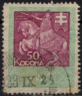 1913 - 1923 Hungary Croatia Slovakia Vojvodina Serbia Romania Transylvania K.u.k Kuk - Revenue Tax Stamp - USED - 50 K - Steuermarken