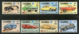 Gambia 1986 Classic Cars Mercedes Automobiles Flag Transport Sc 620-27 MNH # 1993 - Cars