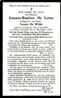 Joannes De Letter Lokeren 1854 - 1930 - Images Religieuses