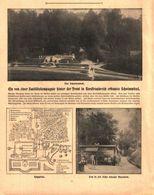 Von Sanitätskompanie Hinter Der Front In Nordfrankreich Erbautes Schwimmbad  / Druck, Entnommen Aus Zeitschrift / 1915 - Livres, BD, Revues