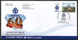 India 2017 NMDC National Mineral Development Corporation Diamond My Stamp Cover #  18289 - Minerals
