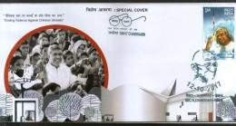 India 2017 Nobel Prize Kailash Satyarthi Mahatma Gandhi Special Cover # 18442 - Famous People