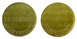 03001 GETTONE TOKEN JETON FICHA VENDING MACHINE BURY ST. EDMUNDS HELSMAN SUFFOLK ENGLAND ERROR! - Netherland