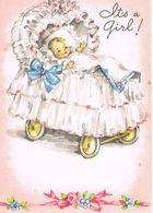 """FAIRE-PART De Naissance U.S.A. - """" It's A Girl """" De Juillet 1948 - Nascita & Battesimo"""