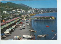 U2372 Cartolina Con La Spiaggia Di Lucrino (napoli) + FIRMA MEGALOMANE SUL RETRO - Italia