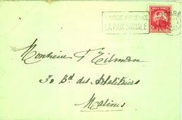 Enveloppe  21 Janvier 1948  Marque Postale  LE MARCHE NOIR MENACE LA PAIX SOCIALE - Flammes