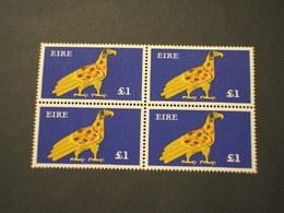IRLANDA - 1975 UCCELLO Lgs. 1, In Quartina(block Of Four) - NUOVO(++) - 1949-... Repubblica D'Irlanda