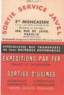 Publicité Des Ets MONCASSIN Avec Plan Des Principaux Axes Et Des Garages Automobiles De PARIS - Carte Stradali