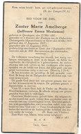 Zuster Marie Amelberge - Emma Meuleman Oordegem 1897 - Gent 1935 - Images Religieuses