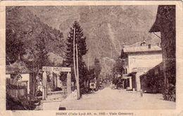 ISSIME-AOSTA-VALLE LYS-VIALE GRESSONEY-CARTOLINA VIAGGIATA IL 8-8-1926 - Aosta