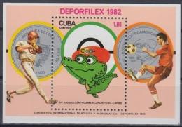 1982.83 CUBA 1981 MNH. Ed.2851. HF PANAMERICANOS DE LA HABANA. DEPORFILEX EXPO, BASEBALL, SOCCER. - Kuba