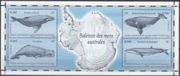 TAAF 2011 Yvert Bloc Feuillet 25 Neuf ** Cote (2015) 8.80 Euro Baleines Des Mers Australes - Blocs-feuillets