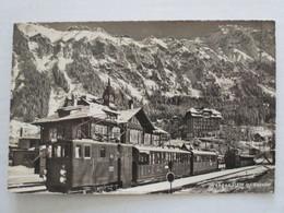 CPA CPSM CP WENGEN BAHNHOF SUISSE SWITZERLAND V1945/50 - GARE TRAIN WAGON CDF / ZUG WAGEN - ED WEHRLI A.G. N°4891 BE - Gares - Sans Trains