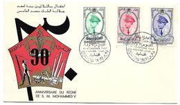 LE96  Enveloppe 1er Jour Du Maroc De 1957 De Mohamed V - Marokko (1956-...)