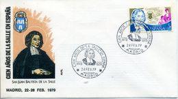 1979 SPAIN Jean Baptiste De La Salle 100 Years Of La Salle Schools In Spain. Madrid. San Juan Bautista De La Salle - 1931-Aujourd'hui: II. République - ....Juan Carlos I