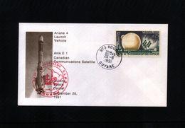 France / Frankreich 1991 Space / Raumfahrt Kourou Interesting Cover - Space