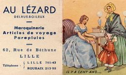 "Calendrier Petit Format 1950 "" Maroquinerie Au Lézard "" Dim . 5x6 Cm - Calendriers"