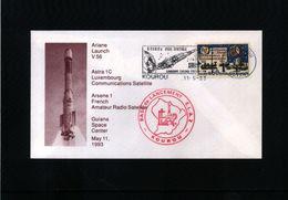 France / Frankreich 1993 Space / Raumfahrt Kourou Interesting Cover - Space