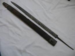 FOURREAU Et Lame Pour Glaive , Dague Officier Marine XIX,old Sword,alter Säbel - Knives/Swords