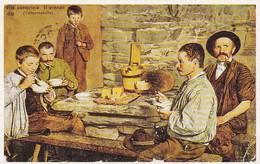 AK Vita Pastorizia - Il Pranzo - Italia - Valle D'Aosta 1908 - Repro (33316) - Europe