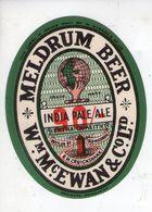 BEER LABEL - McEWANS BREWERY (EDINBURGH, SCOTLAND) - MELDRUM BEER 90/- INDIA PALE ALE - Beer