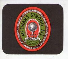 BEER LABEL - McEWANS BREWERY (EDINBURGH, SCOTLAND) - STRONG ALE - Beer