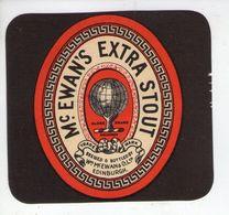 BEER LABEL - McEWANS BREWERY (EDINBURGH, SCOTLAND) - EXTRA STOUT - Beer