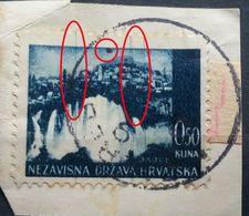 LANDSCAPES-0.50 K-JAJCE-ERROR-DOT-LINES-NDH-CROATIA-1941 - Kroatien