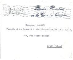 4416 PARIS  81 Griffe De Franchise PREMIER PRESIDENT DE LA COUR DES COMPTES Lettre Du 7 6 1956 - Marcophilie (Lettres)