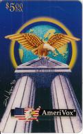 USA - Telecard Club UK, MCMXCIII, Amerivox Prepaid Card $5, Tirage 11111, 02/94, Used - Stati Uniti